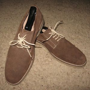 Asher Green Mens Suede Oxfords - Brown 8 1/2